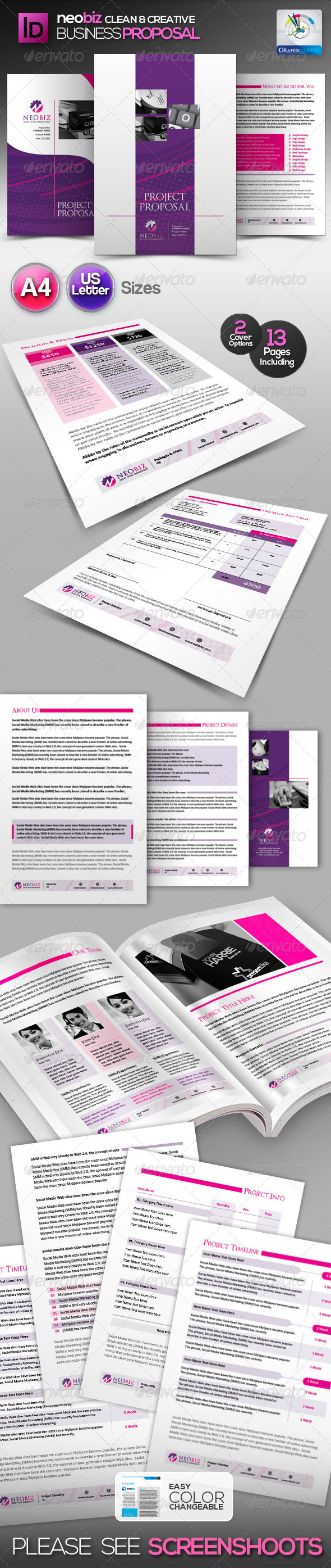 NeoBiz Clean Generic Proposal - Proposals & Invoices Stationery