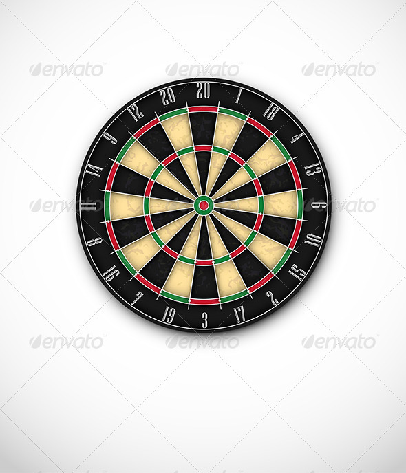 Professional Dartboard for Steel Tip Darts - Sports/Activity Conceptual