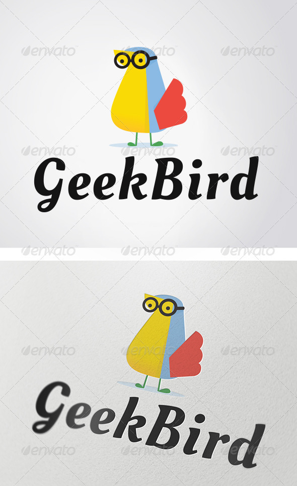 Geek Bird Logo - Animals Logo Templates