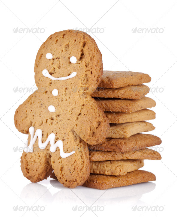 Gingerbread man cookie - Stock Photo - Images