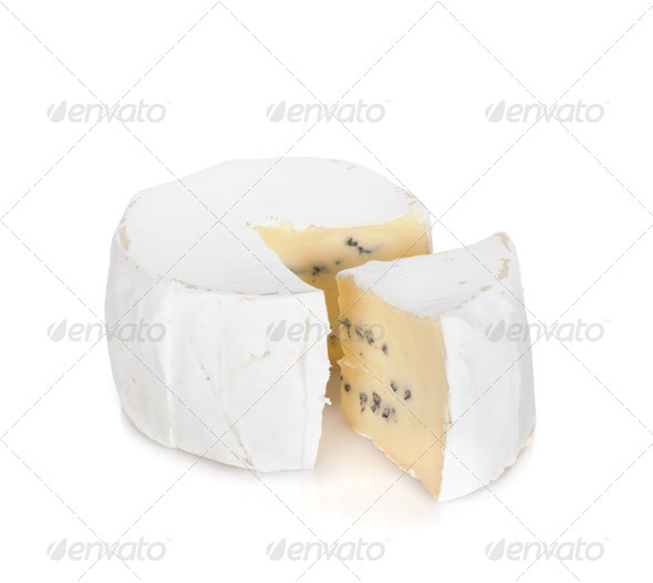 A piece of soft brie cheese - Stock Photo - Images