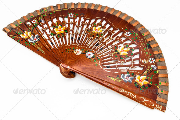 Spanish fan - Stock Photo - Images