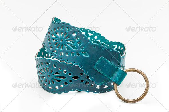 Green women belts - Stock Photo - Images