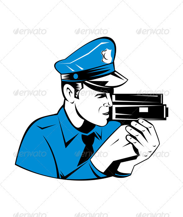 Policeman Police Officer Speed Camera  - People Characters