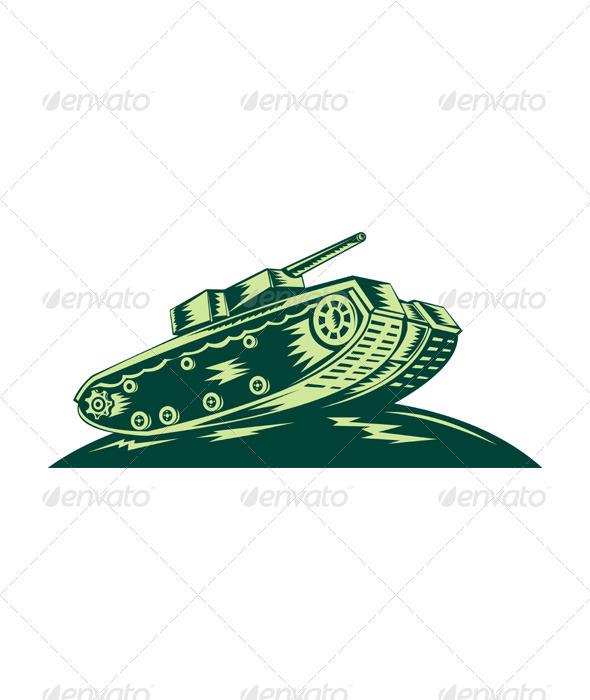 World War Two Battle Tank - Man-made Objects Objects