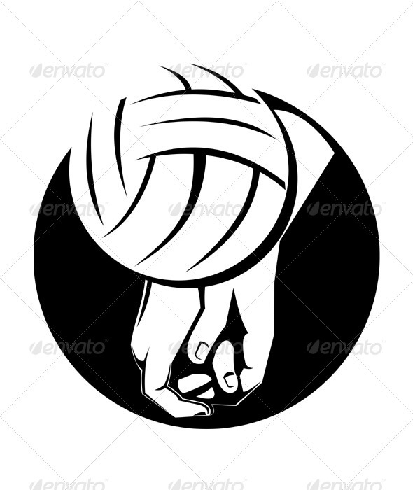 Volleyball Player Hitting Ball - Sports/Activity Conceptual
