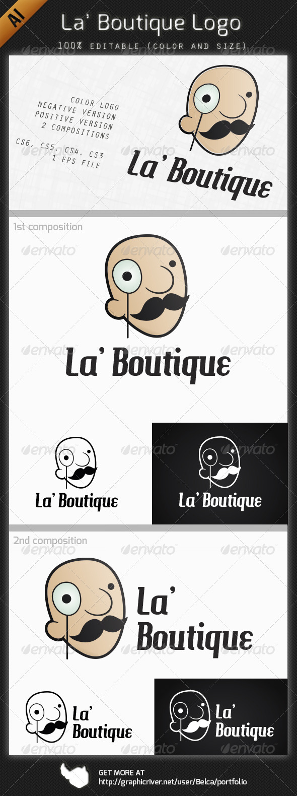 La Boutique Logo - Humans Logo Templates
