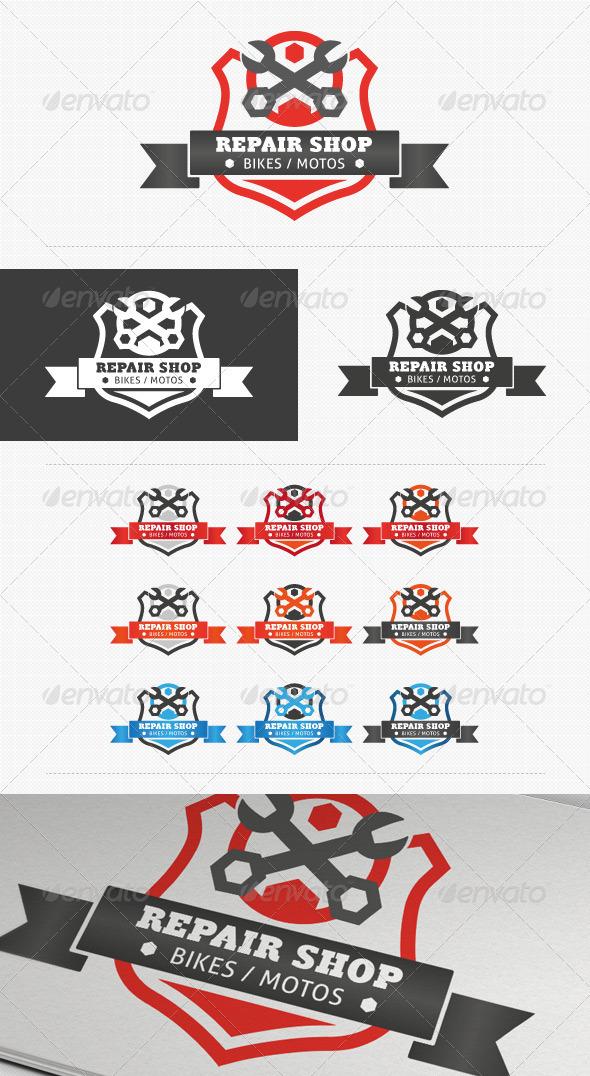 Repair Shop Shield Logo - Crests Logo Templates