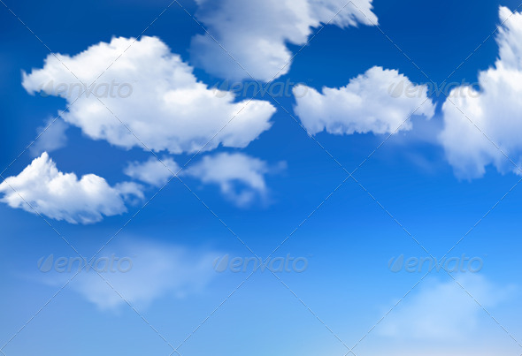 Sky background with clouds - Seasons Nature