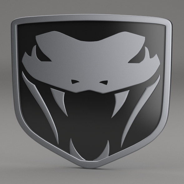 Dodge Viper Fangs Logo By Niosdark 3docean