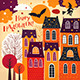 Set of Halloween holiday cards - GraphicRiver Item for Sale