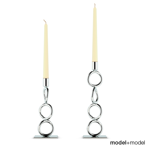 Christofle Vertigo candleholders - 3DOcean Item for Sale