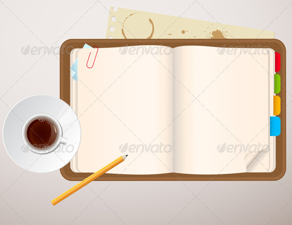 Notebook and a Cup of Coffee - Backgrounds Business