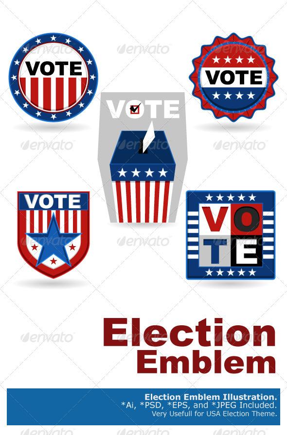 Election Emblem - Decorative Symbols Decorative