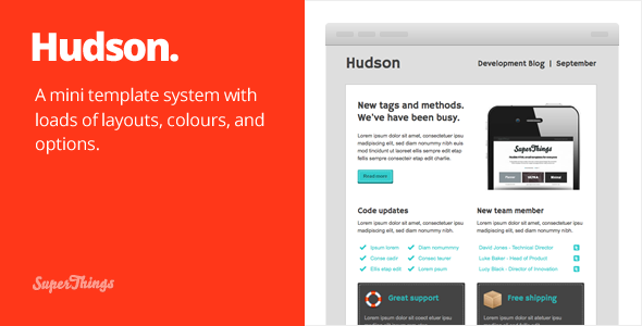 Free Download Hudson Email template Nulled Latest Version