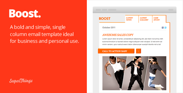 Free Download Boost Email template Nulled Latest Version