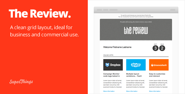Free Download The Review E-newsletter design Nulled Latest Version
