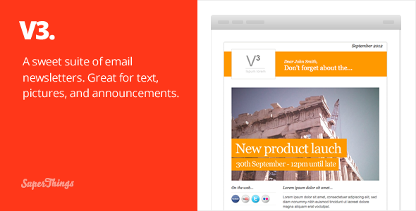 Free Download 3 Email Newsletter designs Nulled Latest Version