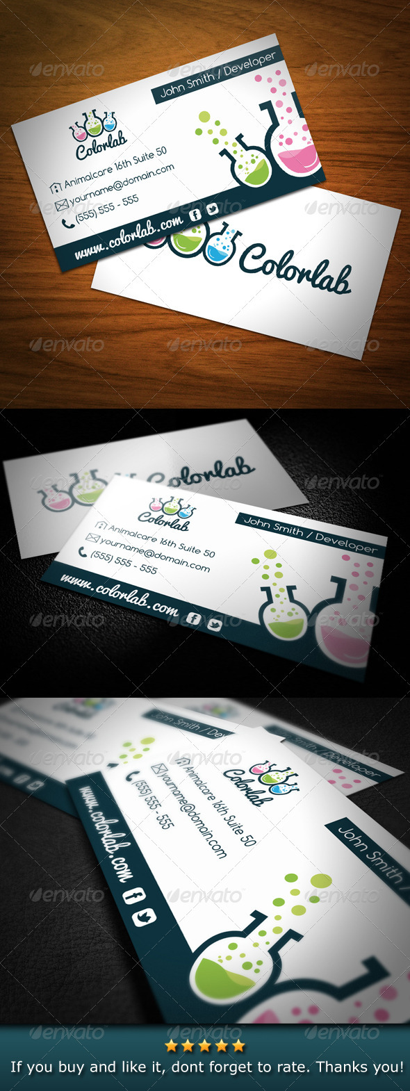 Color Lab Creative Studio Business Card - Creative Business Cards