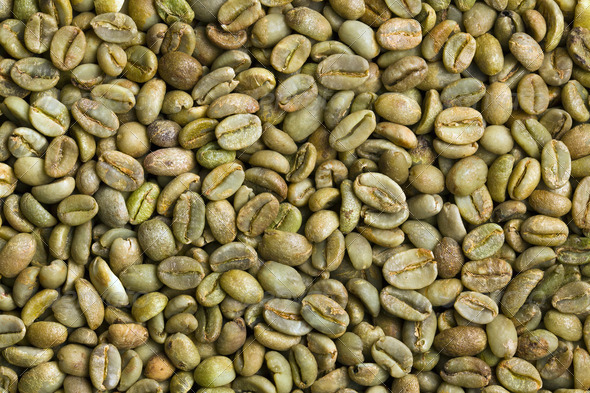 green coffee beans - Stock Photo - Images