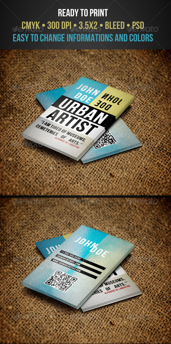 Artist Business Cards - Creative Business Cards