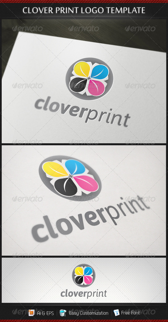 Clover Print Logo Template - Symbols Logo Templates