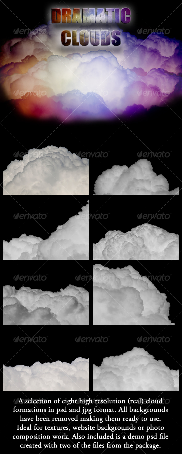 Dramatic Cloud Formations - Nature Textures