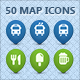50 Map Icons Collection - GraphicRiver Item for Sale