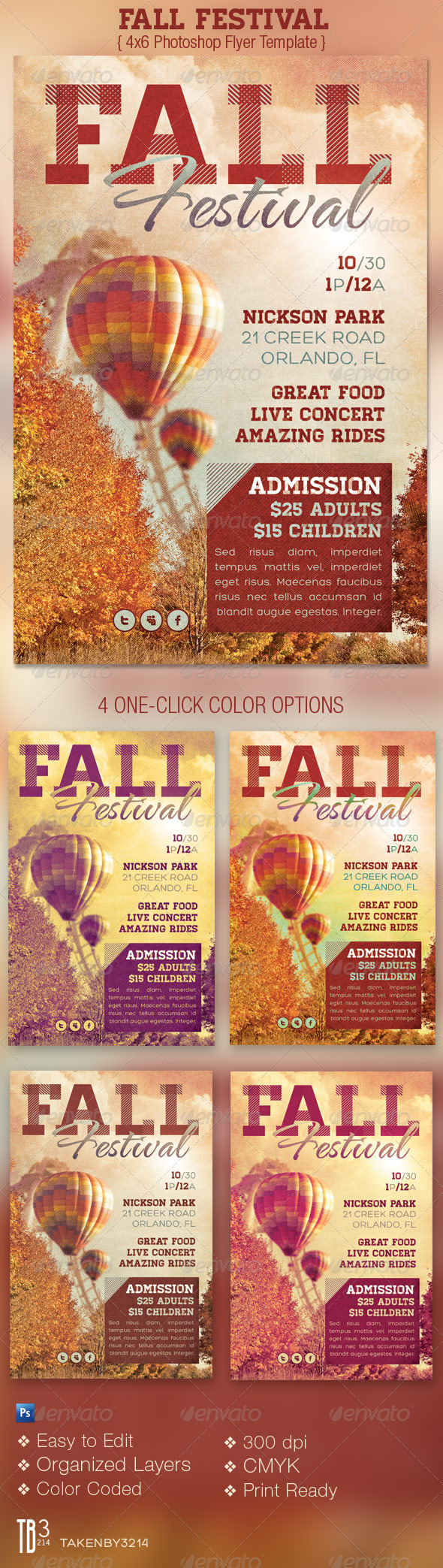 Fall Festival Event Flyer Template - Events Flyers