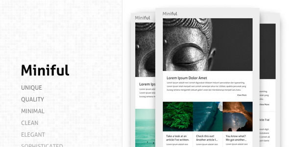 Miniful A Minimal Email Template By Madebyfortune ThemeForest - Minimal email template