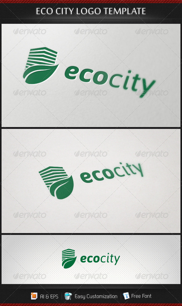 Ecocity Logo Template - Buildings Logo Templates