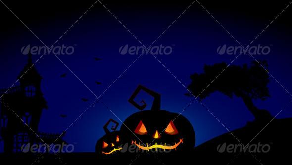 Halloween Pumpkins Background - Halloween Seasons/Holidays