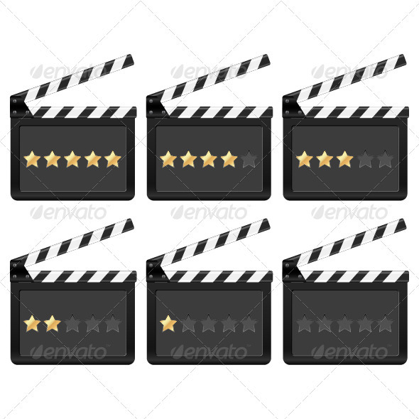 Clapper board with stars - Technology Conceptual