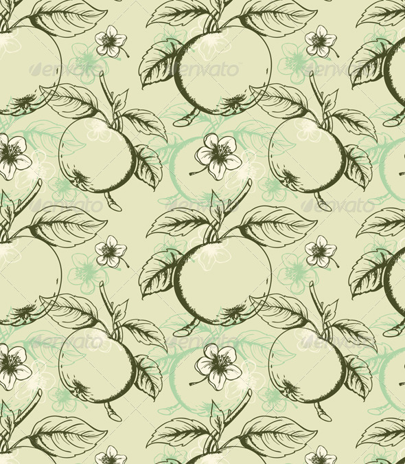Apple Seamless Pattern - Patterns Decorative