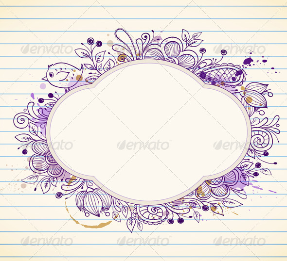 Hand Drawn Vector Label - Backgrounds Decorative