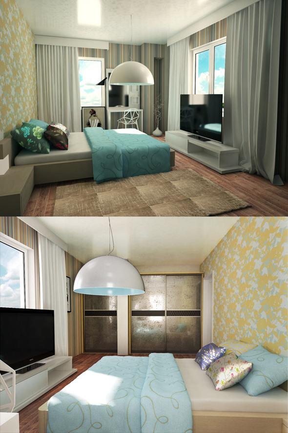 Bedroom Interior 2 - 3DOcean Item for Sale