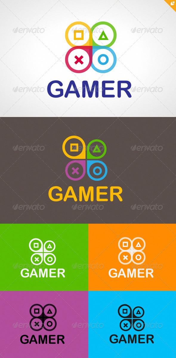 Gamer Logo - Symbols Logo Templates