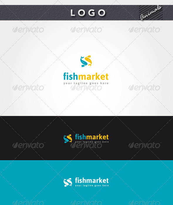 Fish Market Logo - Animals Logo Templates
