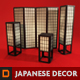 Japanese Shoji Screens and Lamps - 3DOcean Item for Sale