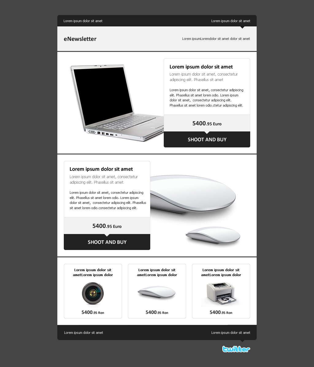 enewsletter a clean email template by advolocaru themeforest. Black Bedroom Furniture Sets. Home Design Ideas