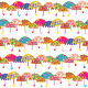 Colorful Umbrella Seamless Pattern - GraphicRiver Item for Sale