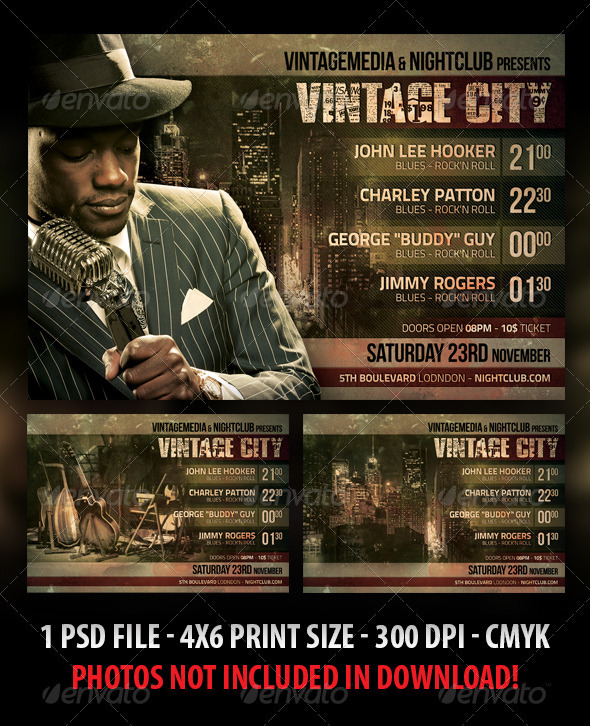 Vintage City Concert Flyer - Clubs & Parties Events