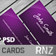 Modern Purple Business Card - GraphicRiver Item for Sale