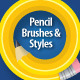 Pencil Brushes & Styles - GraphicRiver Item for Sale
