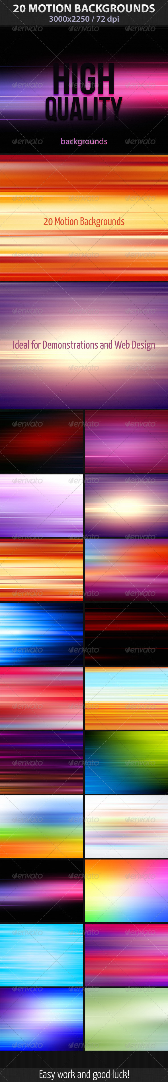 20 Motion Backgrounds - Abstract Backgrounds