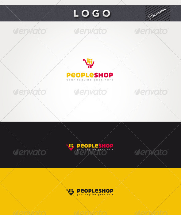 People Shop Logo - Humans Logo Templates
