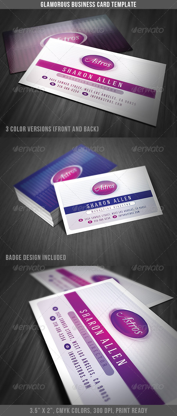 Creative & Glossy Business Card - Creative Business Cards