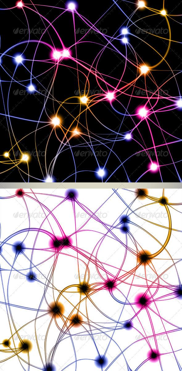 Digital Illustration of Neurons - Health/Medicine Conceptual