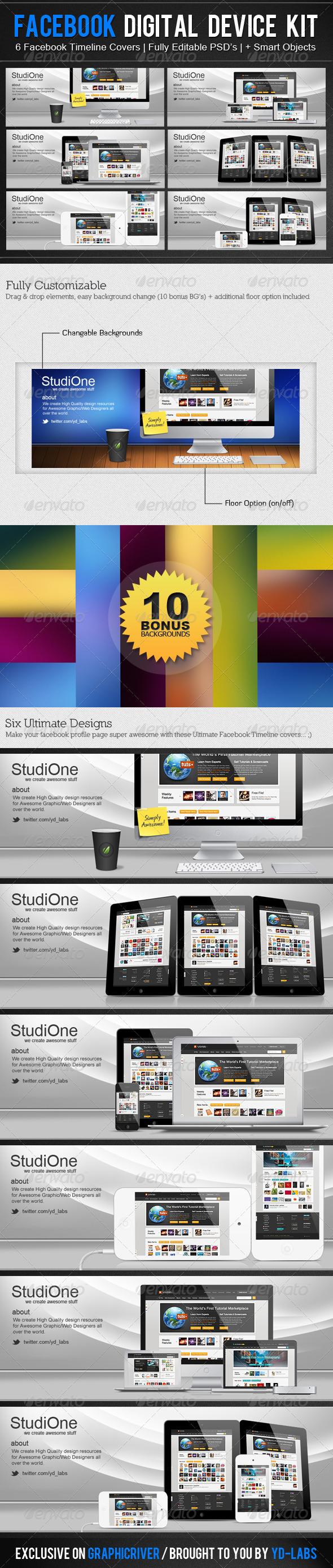 FB Digital Device Kit - Facebook Timeline Covers Social Media