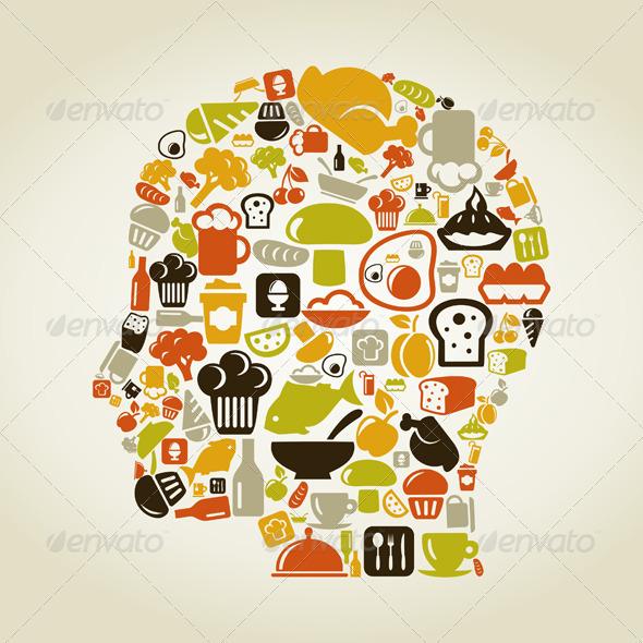 Head food - People Characters